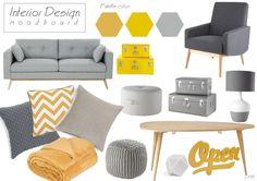 Urban Corner style #design #moodboard #yellow #grey