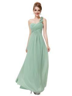 Affordable Empire Chiffon with Ruffles One Shoulder Bridesmaid Dresses - dressesofgirl.com