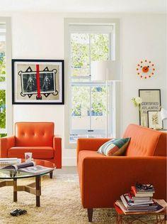 12 ideas para combinar un sofá naranja · 12 ideas to combine your orange sofa - Vintage & Chic. Pequeñas historias de decoración · Vintage & Chic. Pequeñas historias de decoración · Blog decoración. Vintage. DIY. Ideas para decorar tu casa