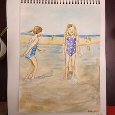 Oh summer.. I'm sad you are ending. #illustration #watercolor #instaart #summerofpainting #summer #dailypainting #beach #beachday #igersboston #art #seaside #cranesbeach