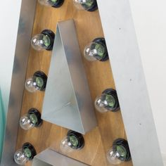 Letra luminosa A en madera y hierro | Letras | Objetos y decoración
