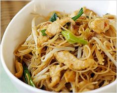 Pancit Bihon Recipe (Filipino Fried Rice Noodles) from Rasa Malaysia: Easy Asian Recipes.  Will be trying more of her recipes soon!