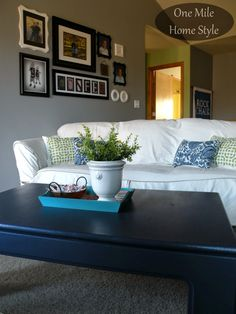 Navy Coffee Table by One Mile Home Style
