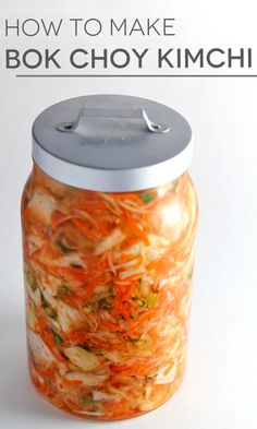 DIY bok choy kimchi - a delicious way to get your probiotics and restore healthy flora to your gut!