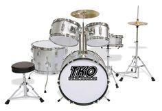 TKO 5pc Jr Drum Set (Metallic Colors)