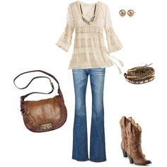 Love this top! Romantic look!!!, created by cyndi-anderson-pendley.polyvore.com