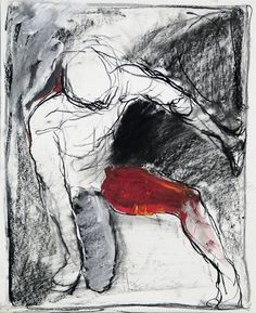 Tim Dayhuff - drawing - October 2014 - charcoal, white pastel, oil on paper - 11 x 14 in