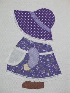 Sunbonnet Sue, for a blanket. Quilt Block Patterns, Applique Patterns, Applique Quilts, Applique Designs, Embroidery Applique, Quilting Designs, Quilt Blocks, Sewing Patterns, Sunbonnet Sue