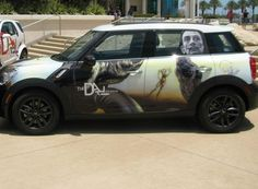 Mini Cooper wrapped in Dali.
