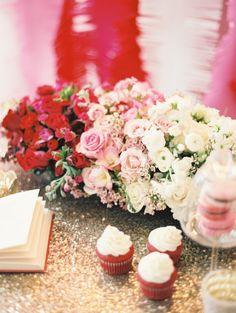 #Ombre Valentine's Day centerpiece