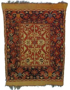 Small format Lotto Oushak rug, 17th c.