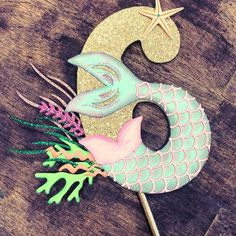 Under the Sea Birthday Cake Topper. Under the Sea topper - Birthday Cake Flower Ideen Mermaid Pinata, Mermaid Tail Cake, Mermaid Party Food, Mermaid Birthday Cakes, Mermaid Cakes, Mermaid Parties, Birthday Cake Toppers, Cake Birthday, 6th Birthday Parties
