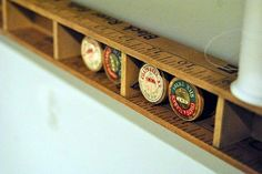 Tiny shelf out of yard sticks  Pinned by Gretchen Langston onto Craft Projects from seamsoflife.com