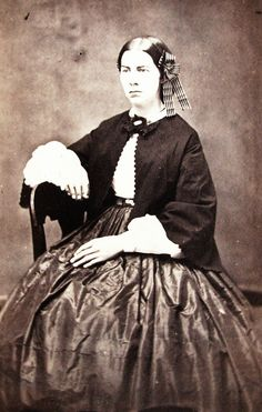 Civil War Era CDV Photo Lovely Young Woman Lovely Hoop Dress Ribbon in Hair | eBay