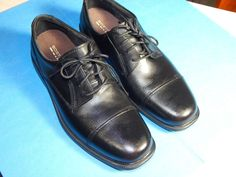 Bostonian Wenham Mens Size 8 M   Black Leather Oxfords Shoes - No Box #Bostonian #Oxfords