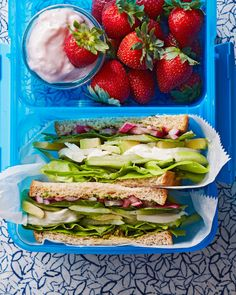 Homemade ingredients such as pickled red onions and fresh herb pesto keep this easy, healthy packed-lunch recipe fresh and flavorful. #lunchrecipes #lunchideas #easylunchideas #bhg Healthy Packed Lunches, Healthy School Lunches, School Snacks, Grilling Recipes, Lunch Recipes, Easy Recipes, Easy Snacks, Quick Easy Meals, Lunch To Go