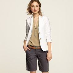 linen Bermuda shorts $85.00 (want the whole outfit)