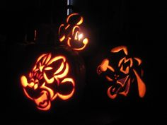 Disney Pumpkin Carving   Mickey & Minnie Mouse, & Pluto
