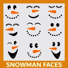 Winter Snowman Faces SVG Cut File and Clipart Bundle – Christmas Crafts Christmas Wood Crafts, Christmas Projects, Holiday Crafts, Christmas Decorations, Christmas Stencils, Snowman Decorations, Christmas Family Feud, Christmas Snowman, Christmas Time