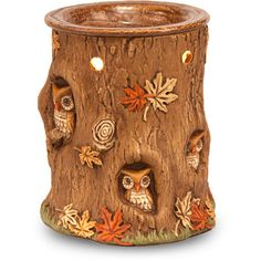 Better Homes and Gardens Owl Glen Wax Warmer, Brown.This makes me screech with joy! Owl Room Decor, Owl Kitchen, Garden Owl, Candle Warmer, Wax Warmers, Beautiful Owl, Cute Owl, Owl House, Better Homes And Gardens