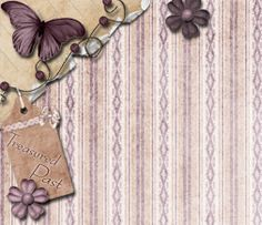 Like this vintage butterfly background