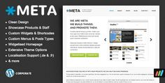Meta Agency Business Corporate WordPress Theme