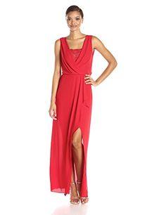 BCBGMax Azria Women's Koko Woven Evening Dress