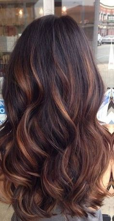 Strahnchen farbe fur braune haare