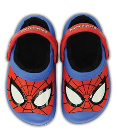 a3edeb21ca290 Look at this Crocs Spider-Man Varsity Blue Lined Clog - Toddler   Boys on