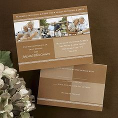 Save-the-date or anniversary invitations!  Be creative with these contemporary magnets