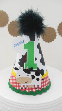 www.SandysSpecialtyShop.etsy.com Sandy's Specialty Shop at etsy.com Farm Birthday, Boy Birthday Parties, Birthday Ideas, Birthday Cake, Farm Party, Party Hats, First Birthdays, Victoria, Party Ideas