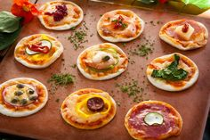 Delicious mini pizzas for functions and parties