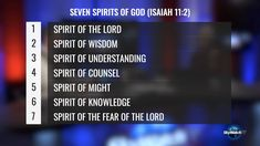 """JESUS DESCRIBED himself as the the one """"who has the seven spirits of God and the seven stars."""" We discuss Jesus' reasons for connecting himself to prophecies. Isaiah 11, Sunday Sermons, End Times Prophecy, Sky Watch, New Program, Fear Of The Lord, Counseling, Knowledge, Spirit"""