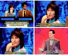 The Big Fat Quiz, Jimmy Carr, Noel Fielding British Sitcoms, British Memes, British Comedy, Tv Funny, Hilarious, Addams Family Quotes, Jimmy Carr, Richard Ayoade, The Mighty Boosh