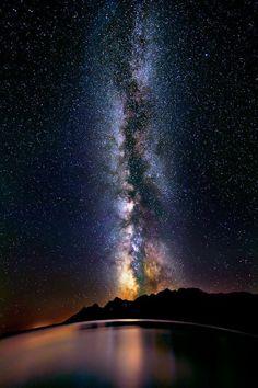 Milky Way over Lake Titicaca, Peru - Via Láctea no Lago Titicaca, Peru
