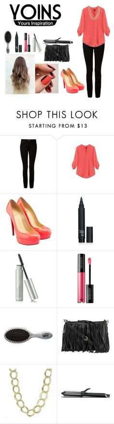 """""""Yoins V Neck Blouse"""" by luz-715 ❤ liked on Polyvore featuring T By Alexander Wang, Christian Louboutin, MAKE UP FOR EVER, Rebecca Minkoff, Kenneth Cole, GHD, women's clothing, women, female and woman"""