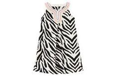 Embroidered Zebra Dress