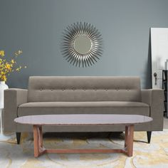 The Riva Loveseat and Oru Coffee Table come together for a look that's elegant and inviting. Loveseats, Dining Bench, Couch, Coffee, Elegant, Table, Furniture, Home Decor, Kaffee