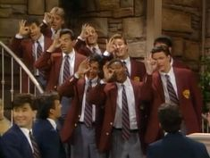 """Fresh Prince of Bel-Aire  Season 1 Episode 14    Imagery: A-ok 666 hand signal over One Eye symbolism while singing and welcoming new students to the """"family"""""""