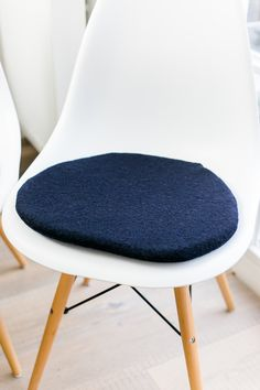 Chair Cushion In Dark Blue, Suitable For Eames Chair, Limited