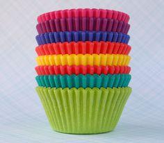 Rainbow Cupcake Liners