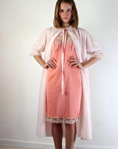 Vintage 1950s Pink Peignoir Robe. $35.00, via Etsy.