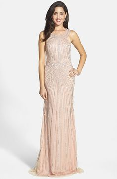 FAVIANA Embellished Tulle Column Gown available at #Nordstrom