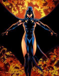 Comic Books Art, Comic Art, Marvel Dc, Marvel Comics, Raven Beast Boy, Comic Manga, Arte Dc Comics, Female Hero, Art Anime