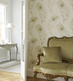 Feathers | Peacock Wallpaper by Prestigious Textiles | Jane Clayton