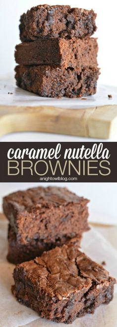 Caramel Nutella Brownies - an easy and delicious way to up your brownie game!