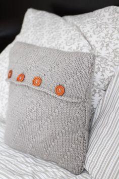 Návod na pletený polštář