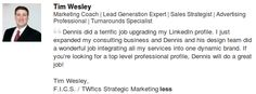 We are very happy to have collaborated with Tim Wesley towards the Professional Makeover of his LinkedIn Profile! Thank you Tim! www.LinkedSuperPowers.com
