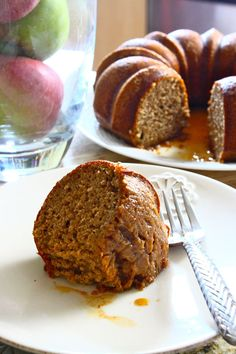 Spiced Apple Cider Bundt Cake with a Cinnamon-Cider Glaze. Now I just need a bundt pan! Fall Desserts, Just Desserts, Delicious Desserts, Spiced Apple Cider, Spiced Apples, Apple Recipes, Cake Recipes, Dessert Recipes, Holiday Recipes