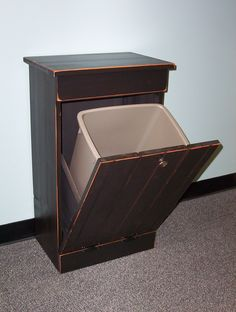 tilt out trash bin, need this!